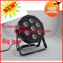 2015 hot new dmx wash light led flat par 7x12w rgbw par can lights rgb w uplighters big lens bigger wash size