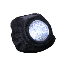 4 LED Battery Powered Solar Decorative Rock Stone Lights Waterproof IP44 Garden Yard Lawn Lamp for Outdoor