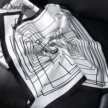 DANKEYISI 2017 Fashion Silk Scarf Men Square Luxury Male Scarf Brand Desigual Print Floral Scarves Bufanda Hombre 50*50(China)