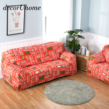 Christmas Elk Snowflake Thick Sofa-slipcovers Tight Wrap All-inclusive Slip-resistant Elastic Cubre Sofa Towel Corner Sofa Cover