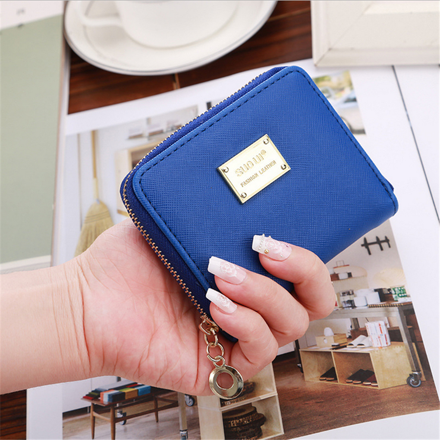 2016 Fashion PU Leather Women Wallet Short Luxury Famous Brand Designer Purse Clutch Bag Coin Card Holder D1038-7<br><br>Aliexpress