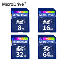 New SD Card full size 64gb 32gb class 10 SD Card  8GB 16GB SDXC Transflash flash Memory Card Pen drive for digital camera
