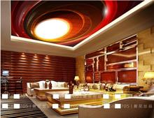custom wallpapers for living room 3 d ceiling Red dynamic aperture 3d ceiling photo wall mural luxury 3d ceiling wallpaper