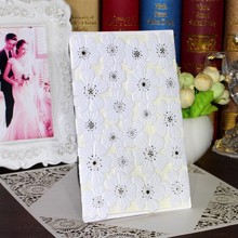 New arrival europe Laser Cut Wedding Invitation cards with White lace hollow out  laser cuttinng supplier china