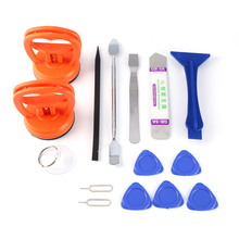 15 in 1 Opening Repair Pry Tool LCD Screen Suction Cup Spudger Kit Set for Tablet Laptop For iPhone 6 5S 4S