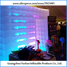 Outdoor and Indoor LED strip Lighting Inflatable Photo Booth for Advertisement(China)