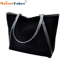 Hot sale Simple Winter Larger Capacity Leather Suede Women Bag Messenger wholesale DE13