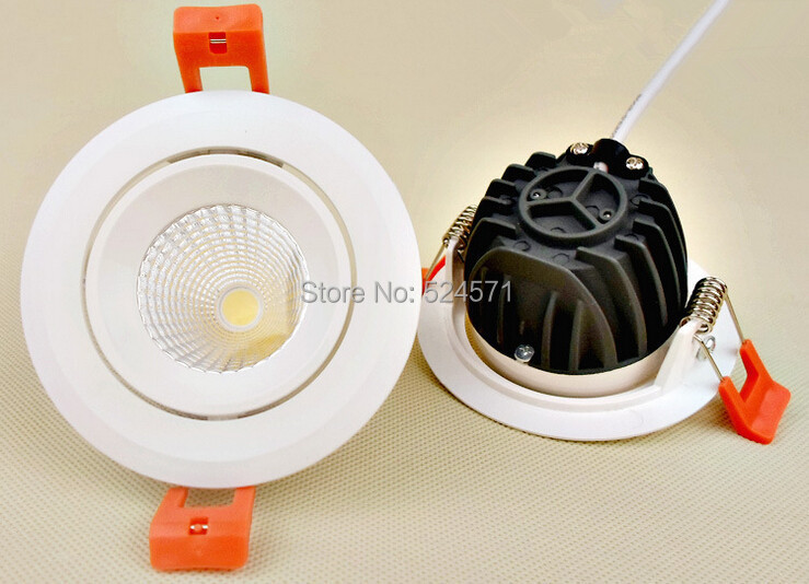 Free Shipping 10w Led Ceiling light ,High Lumens 95~100LM/W COB LED Downlight 10W LED Down Light  CE&amp;RoHS<br><br>Aliexpress