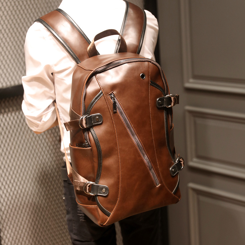 BUG NEW Leather Backpack Men crazy horse Leather Travel Backpacks Boy fashion Big Capacity School Shoulder Bag travel Rucksack<br>