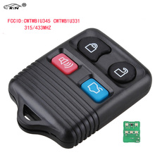 RIN Remote Key Transit Keyless Entry Fob 4 Button 315MHz / 433mhz For Ford complete remote control , Circuid Board included