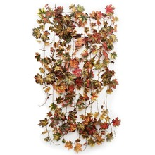 5 pcs/lot Artificial Maple Leaf Ivy Hanging Garland Mixed Fall Color Maple Vine Autumn Leaf Garland For Home Wedding Decoration