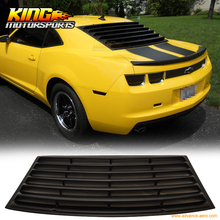 For 2010-2015 Chevrolet Camaro Rear Window Louver Unpainted Black - PUR USA Domestic Free Shipping