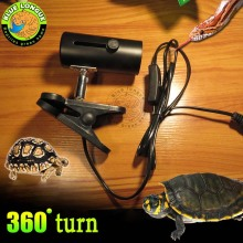Aquarium Reptile Light Holder Clamp Infrared Emitter Heat Lamp Stand, lamp head with high temperature resistance,(China)
