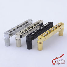 1 Set GuitarFamily  Roller Saddle Tune-O-Matic Electric Guitar  Bridge ( #0678 ) MADE IN KOREA