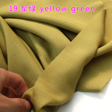 "Yellow green Viscose Fabric Silk Artificial Cotton Fabric Skirt Scarf Apperal Hijab Rayon Fabric 60"" Wide Sold By The Yard"