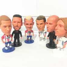 6PCS/LOT Soccerwe Ronaldo Zidane Football Dolls ( MA VS RM ) White Red