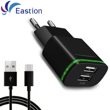 USB Wall Charger for iPhone Samsung Adapter Universal EU Plug Mobile phone Fast Charging Micro Type-C Cables Chargers Device