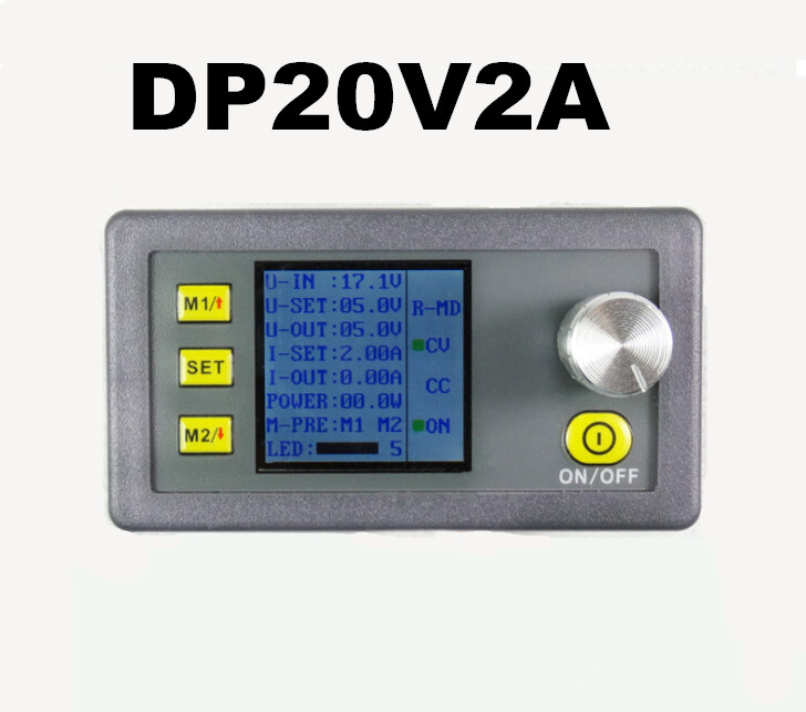 5pcs/lot LCD voltmeter Programmable Power Supply module buck Voltage converter meter Multi-function DP20V2A tester Step-down<br><br>Aliexpress
