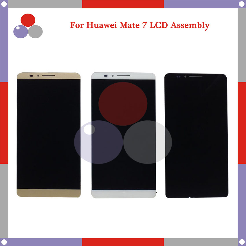 Highest quality 6.0 For Huawei Mate 7 LCD Screen Display + Touch Screen Digitizer Assembly Free shipping<br>