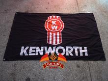 Kenworth Trucks The World's Best brand flag,100% flag king polyster(China)