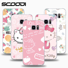 Hello Kitty Soft TPU phone case for Samsung Galaxy S8 S6 S7edge Ultra-slim girls Cover Case for J2 J5 prime J3 A5 2017 coque