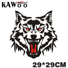 KAWOO COOL ROAR WOLF Car Body Stickers Cars Decoration Waterproof PVC Sticker Styling Cool Motorcycle Sticker 29*29CM