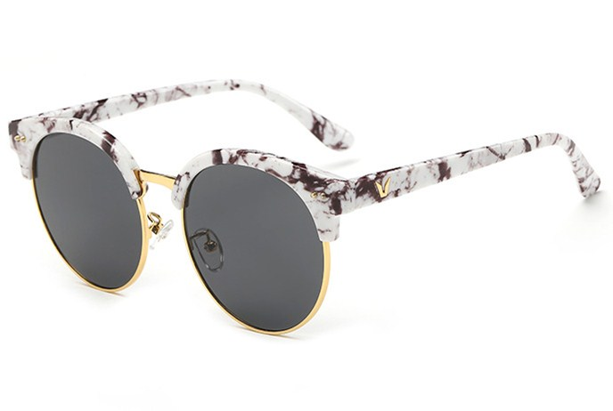 Fashion Colorful retro trend men women lady polarized sunglasses Eyebrow Multicolor frame TAC UV400 Lens polaroid party shopping<br><br>Aliexpress