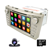 2 Din Car DVD Player fit TOYOTA Camry Aurion with Built-in Microphone Bluetooth TV 8 inch Car DVD Player FM/AM USB Free 8G maps(China)