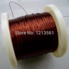 Free shipping size 0.21mm long 500m QZ-2/180 Degree copper enameled wire / magnet wire(China)