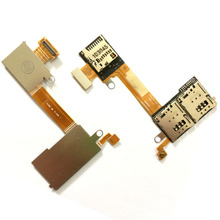 For Sony  Xperia M2 Aqua D2303 D2305 D2306 S50H S50T SIM Secure Digital Memory Card Slot Reader Tray Holder Flex Cable New625