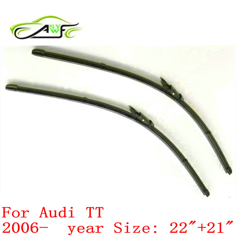 "Free shipping car wiper for Audi TT (2006 onwards) 22""+21"" natural rubber fit pinch tab wiper arms(China)"