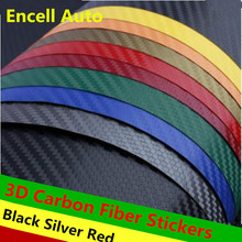 Buy 127cmX30cm 3D Carbon Fiber Vinyl Film Car Accessories Motorcycle Carbon Fibre Car Wrap Sheet Roll Film Sticker Decal Car Styling for $4.83 in AliExpress store