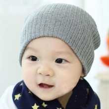 Cute Cap 12 Colors Baby Hat For Girls & Boys Knit Baby Hats Beanie Candy Color Toddler Children Hat(China)