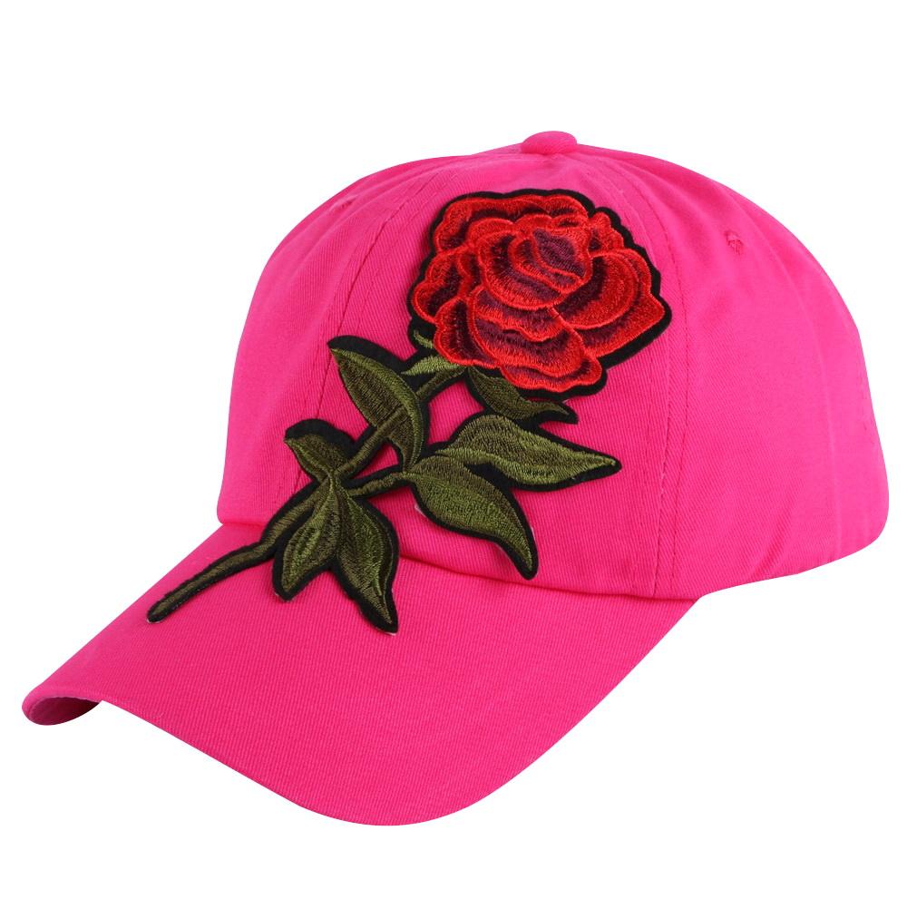 6bff894f5a3 New Trendy Luxury Women Girl Beauty Baseball Cap Rose Floral Design ...
