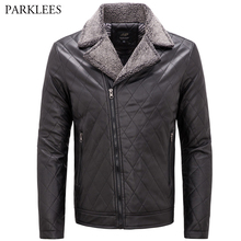 Buy Pilot Leather Jacket Men 2017 Brand New Mens Zipper Faux Fur Leather Jackets Casual Slim Fit Mens Biker Jackets Coats Black for $35.34 in AliExpress store