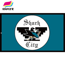 Shark City Huelga Flags nhl St. Jones Sports Man Flag 3x5ft 100% Polyester Flags & Banners Home Decoration Flag & Banner(China)