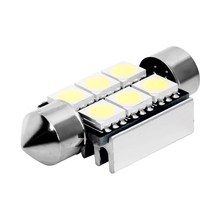 Festoon CAN BUS 36mm led C5W CANBUS ERROR FREE 6 SMD 5050 LED car interior light bulbs 6led Auto Reading Lights White 12V(China)