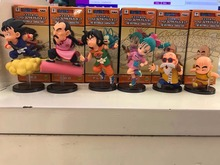 Anime Dragon Ball Z Flying Super Saiyan Son Goku Bulma Krillin Master Roshi PVC Action Figures Kids Toys Doll 9CM 6pcs/set