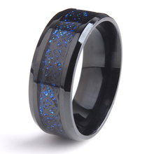 Cheap New Fashion Wild Rings Jewelry Accessories 8mm Black Blue Dragon Ring Single Titanium Steel Ring Women Men Gift Wholesale