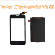 For Alcatel One Touch Pixi First OT4024 4024 OT4024D 4024D 4024X 4.0'' Black Touch Screen+LCD Display Touch Panel Digiziter