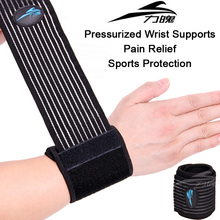 Pressurized Wrist brace pain relief posture corrector wristband adjustable elastic Strong sports wrist support braces & supports