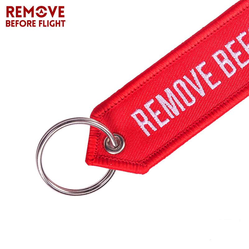 Remove Before Flight OEM Key Chains Berloques Red Embroidery Highlight Key Fobs Chains Jewelry Aviation Gifts Chaveiro Masculino7