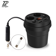 ZD 3.1A Multi-function Car Styling Charger Cigarette Lighter For Ford Focus 2 3 Fiesta Mondeo Ranger Kuga Seat Leon Ibiza Lexus(China)