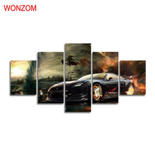 Running Sports Car Canvas Painting HD Wall Art Poster Modern Wall Pictures For Living Room Christmas Cuadros Decoracion Vintage