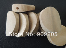 SANSHOOR Natural Oval Round Wood Bead Unfinished Wooden Accessories Jewerly For Diy 50pcs/lot SMT-385J
