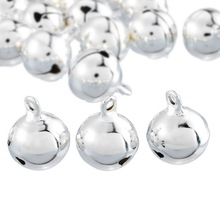 Hoomall 20PCs Silver Jingle Bells Pendants Hanging Christmas Tree Ornaments Christmas Decorations DIY Crafts Accessories