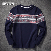 E-BAIHUI t shirt mens cotton long sleeve t shirt men hoodies and sweatshirts tshirt brand hoodies warm underwear t-shirts JR003(China)