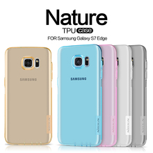 Nillkin Nature Clear Soft TPU Case Cover For samsung galaxy s7 (5.1 inch) s7 edge (5.5 inch)Transparent Protective Skin para