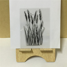"high quality ""Small Grass"" design scrapbooking clear stamps christmas gift for DIY paper card kids photo album FF-014"