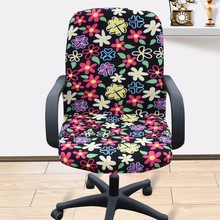 Large size office Computer chair cover side zipper design arm chair cover recouvre chaise stretch rotating lift chair cover(China)